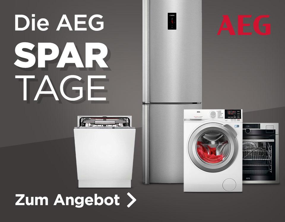 Einige AEG-Geräte (Kühlschrank, Trockner, Geschirrspüler) bei ao.de günstig durch Angebot+Gutschein