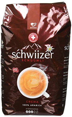 Schwiizer Schüümli Crema Ganze Kaffeebohnen, 1kg im Amazon Prime Sparabo (15%)