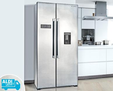 Side By Side Kühlschrank Erfahrung : A medion® md 37250 side by side kühl und gefrierschrank mit