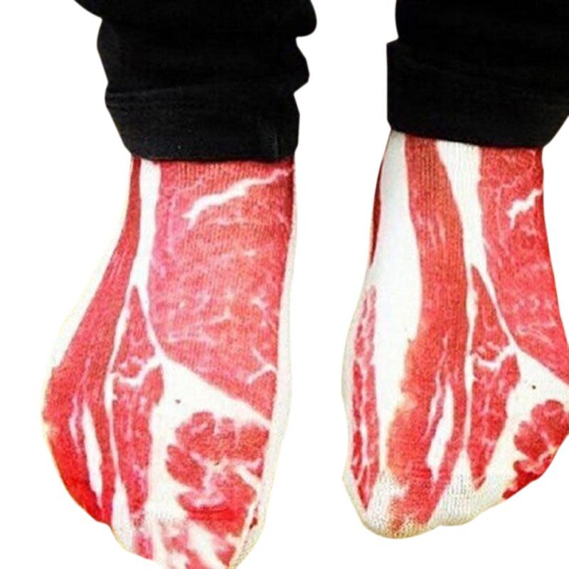 Motivsocken für die Dame von Welt: Fleischfüße gefällig?