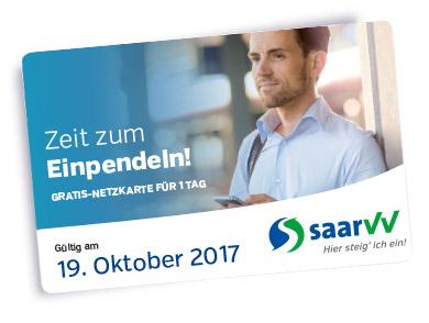 saarVV - gratis Bus & Bahn fahren im gesamten saarVV-Netz am 19. Oktober