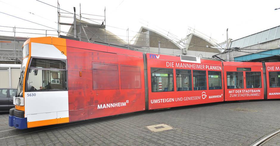25.11.2017 Im Mannheimer Stadtgebiet gratis Straßenbahn fahren