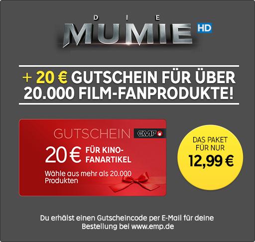 20€ EMP-Geschenkkarte + »Die Mumie« (2017) in HD für insges. 12,99€ bei Rakuten TV