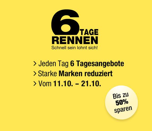 Galeria Kaufhof 6 Tage Rennen - täglich neue Aktionsangebote und 15€Gutscheincode auf das restliche Sortiment