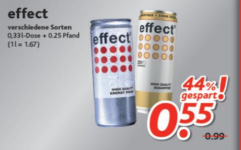 [Dursty] Effect Energy Drink 0,33l Dose für 0,55€ (+ Pfand)