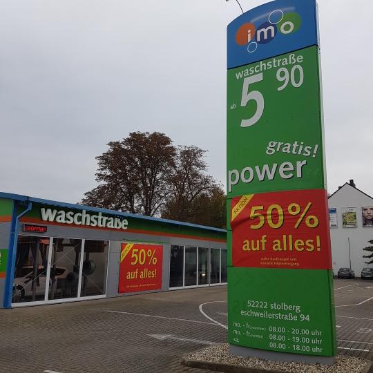 IMO Car Wash Stolberg/Rheinland Autowäsche 50 % auf alles + gratis staubsaugen