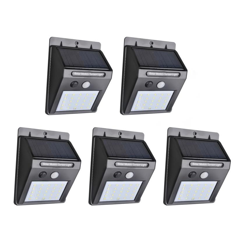 5 Stück Außenleuchten mit Solar und je 25 LEDs zum Stückpreis von 7,10€