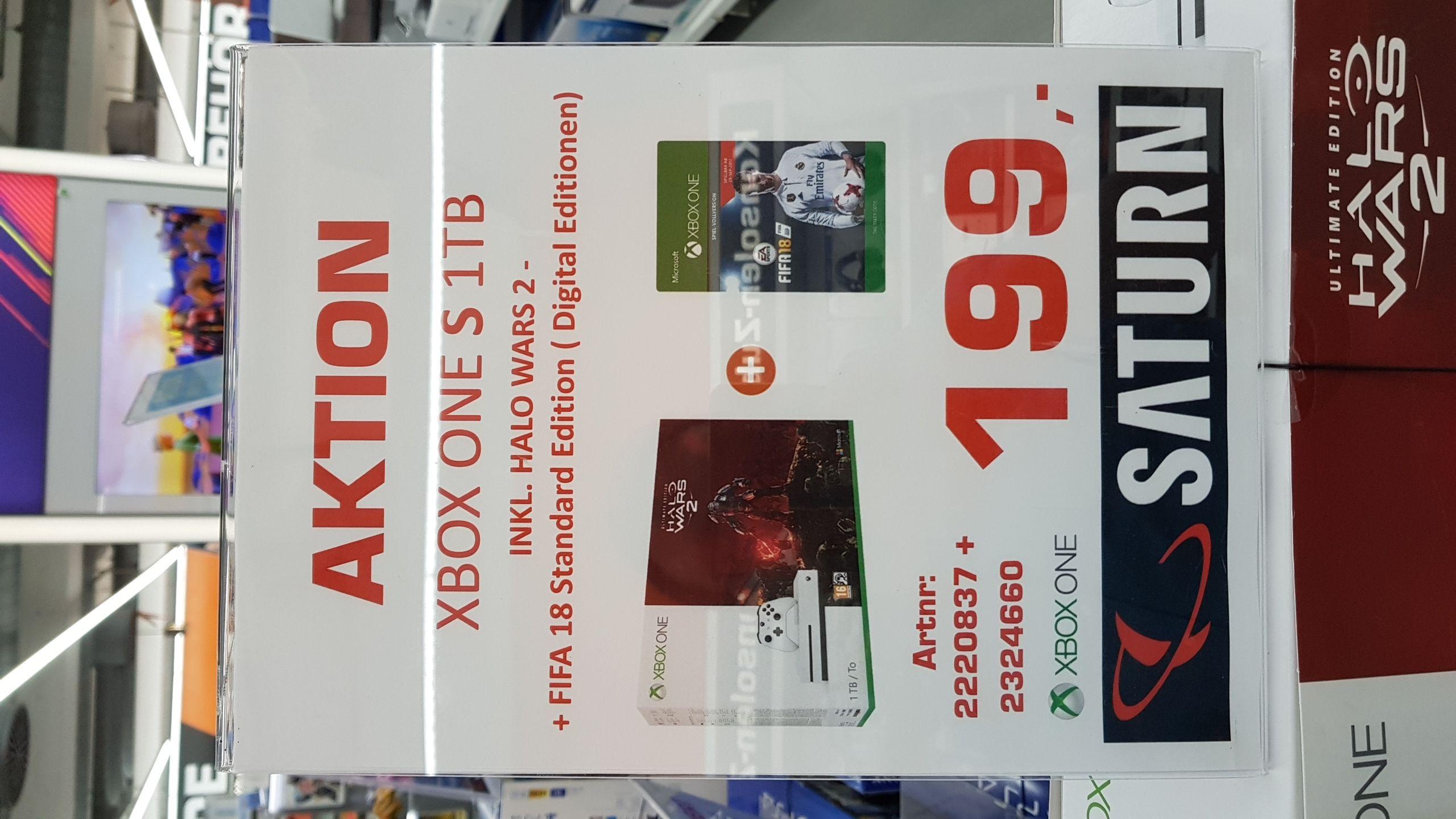 Abgelaufen - XBOX ONE S 1 TB +  HALO WARS 2 + FIFA 18 NUR LOKAL SATURN STACHUS MÜNCHEN