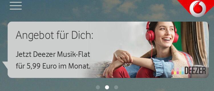 Deezer Flat Angebot (Nur für Vodafone Kunden)