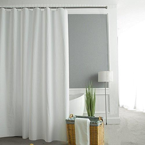 Amazon Prime Duschvorhang aus PEVA mit Überlänge 180 x 200 cm in Weiß für 11,19 Euro