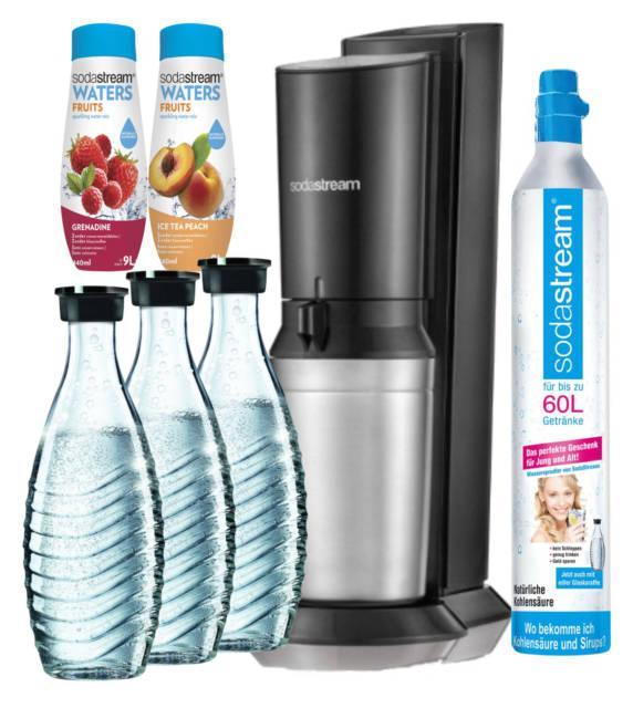 SodaStream Crystal Megapack inkl. 3x 0,6L Glaskaraffen + CO2-Zylinder