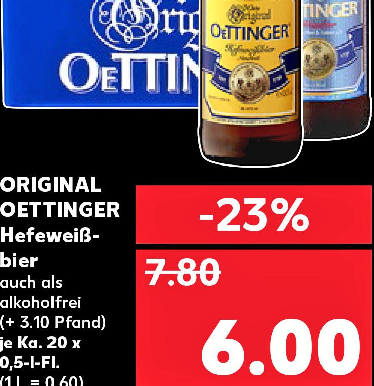Kaufland ab 19.10.Oettinger Hefeweißbier für nur 6,00€