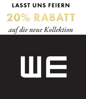WE Fashion: 20% Rabatt auf die gesamte neue Kollektion + kostenloser Versand