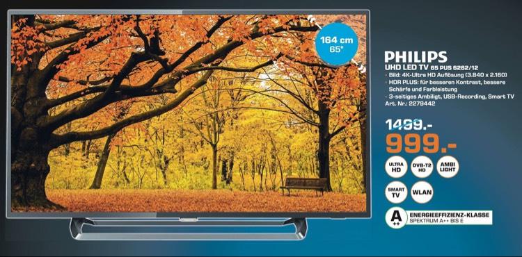 Philips 65pus6262 ambilight in alle Kölner Saturn Märkte für 999€