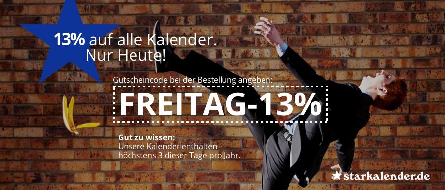 13% auf alle Kalender - auch GEO usw. bei starkalender.de