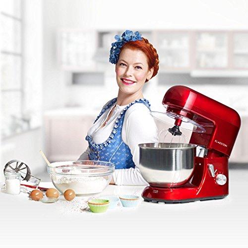 Klarstein Bella Küchenmaschine mit 1200 Watt, 5,2 Liter Schüssel