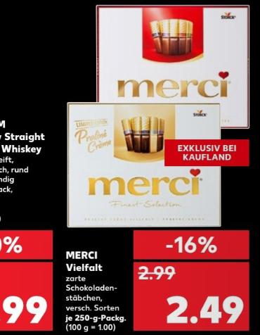Kaufland merci Finest Selection Helle Vielfalt (dealpreis = angebot plus coupon von couponplatz)