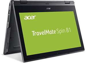 [Amazon] Acer TravelMate Spin B1 B118-RN-C42Z 29,4 cm (11,6 Zoll Multi-Touch FHD IPS) Notebook (Intel Celeron N3450, 4 GB RAM, 128 GB SSD, HDMI, USB 3.0, Intel HD, Linux) schwarz