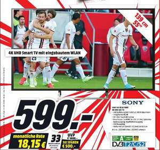 Sony KD55XE7005 4K UHD TV 55 Zoll [Lokal Media Markt Recklinghausen]