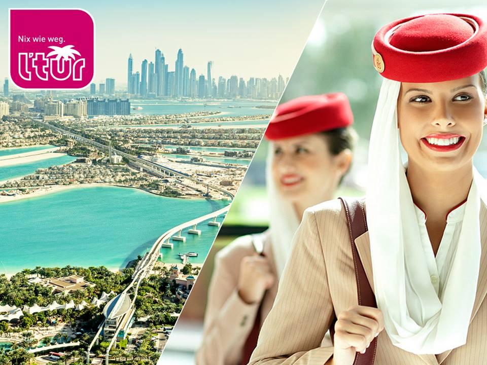 l'tur Emirate Rabattaktion inkl. gratis City-Tour - bis zu 200€ sparen!