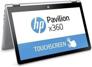 HP Pavilion x360 – 15-br070ng Convertible: 15,6 FHD Multi Touch, Intel Core i5-7200U, 8GB RAM, 256GB SSD, AMD Radeon 530, Wlan ac, HDMI, USB-C, Win 10 für 779€ (HP)