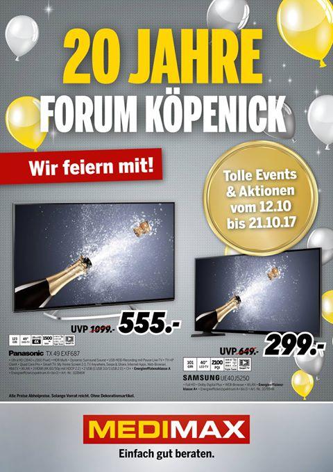 [Lokal Berlin] z.B. Panasonic TX-EXF687 - MediMax Sammeldeal