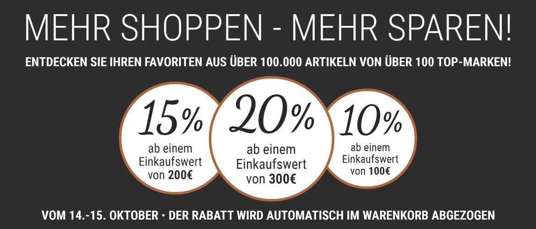 20% + 5 % Rabatt auf Reisegepäck ab 300€, auch Rimowa