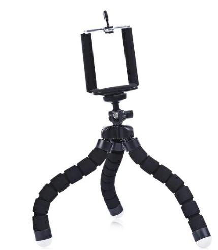 Dreibein / Tischstativ mit Halterung für Smartphones - passend auch für Actioncams & Kameras inkl. Versand [Zaful]