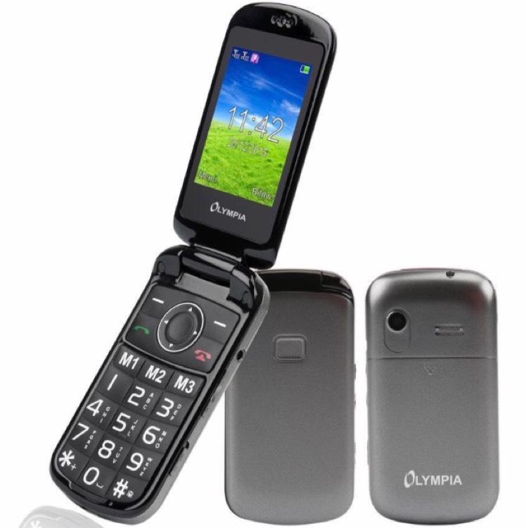 Olympia Brava Senioren KlappHandy Mobiltelefon - große Tasten Radio Kamera SOS