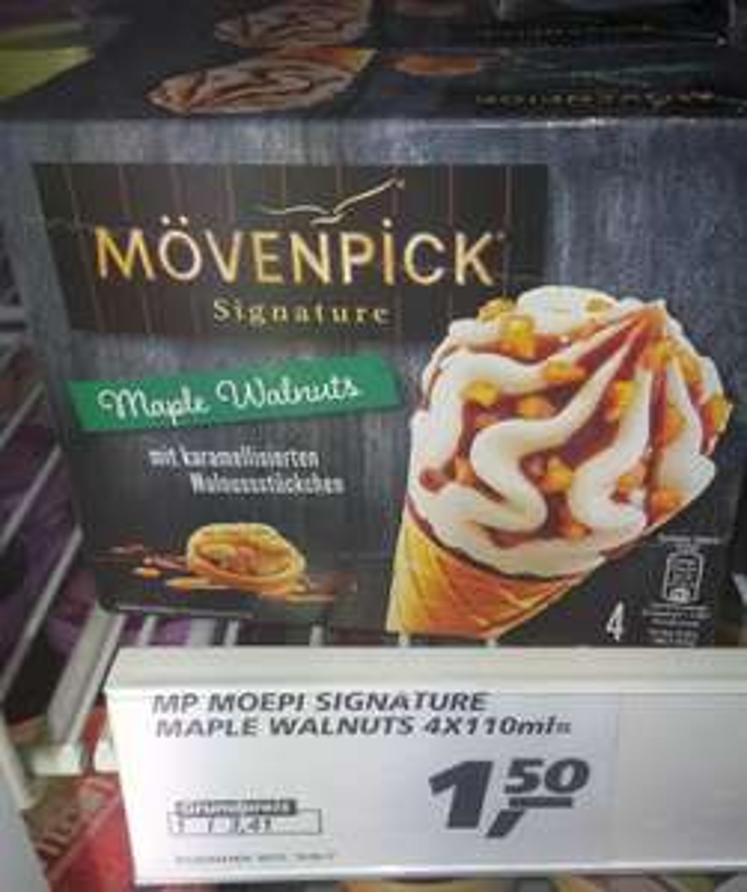 "[REAL] Mövenpick Signature ""Maple Walnuts"" 8x110ml für nur 2,00€ (=0,25€/Stück) Angebot+Scondoo"
