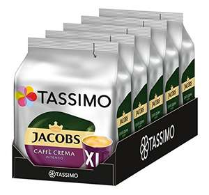 [Amazon Sparabo + Coupon] Tassimo Jacobs Caffè Crema Intenso XL, 5er Pack Kaffee T Discs (5 x 16 Getränke) ab 10,11€