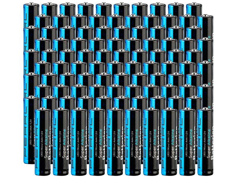 Eneloop-Fraktion weitergehen, hier gibt es nix zu sehen - Sparpack Alkaline-Batterien Micro 1,5V Typ AAA, 100 Stück bei PEARL