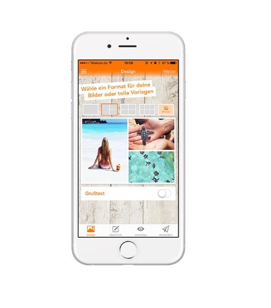Gratis eine Postkarte mit eigenen Fotos versenden - Postando App - Android & iOS