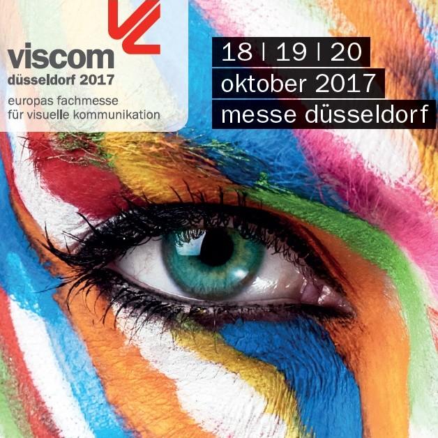 """Kostenlose Eintrittskarte (Dauerticket für 3 Tage) für die Messe """"viscom düsseldorf 2017"""" vom 18. bis 20. Oktober"""