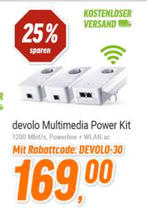 NBB Devolo dLAN Multimedia Power Kit (1200 Mbit/s, Powerline + WLAN ac) *UPDATE* zusätzlich mit 2m Patchkabel