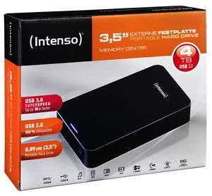 Intenso Memory Center 4TB externe 3,5″ Festplatte mit USB 3.0 zu 95€ mit Versand