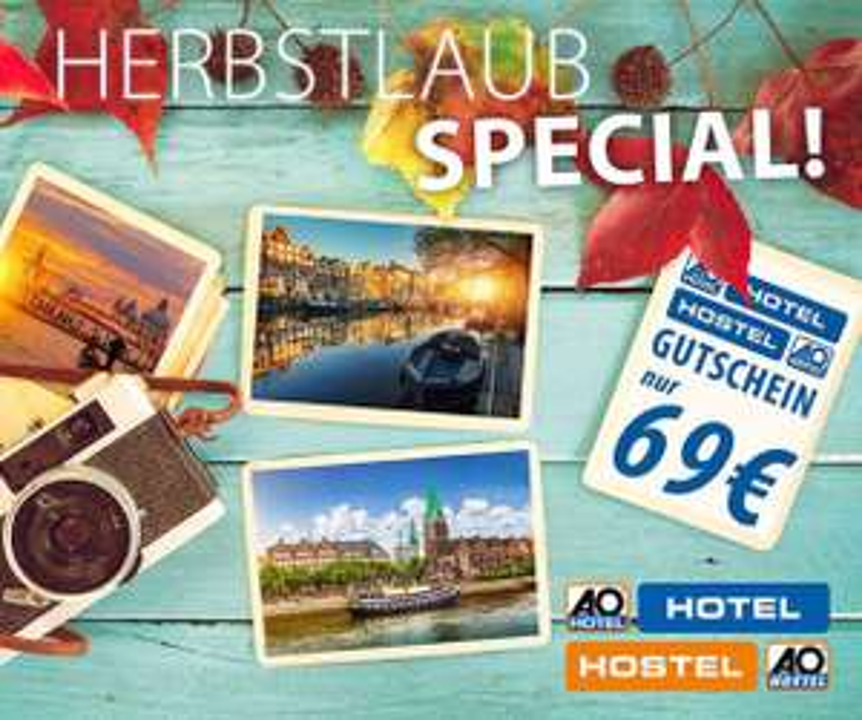 A&O Hotelgutschein – 3 Tage in einer von 22 Städten nur p.P. 34,50€