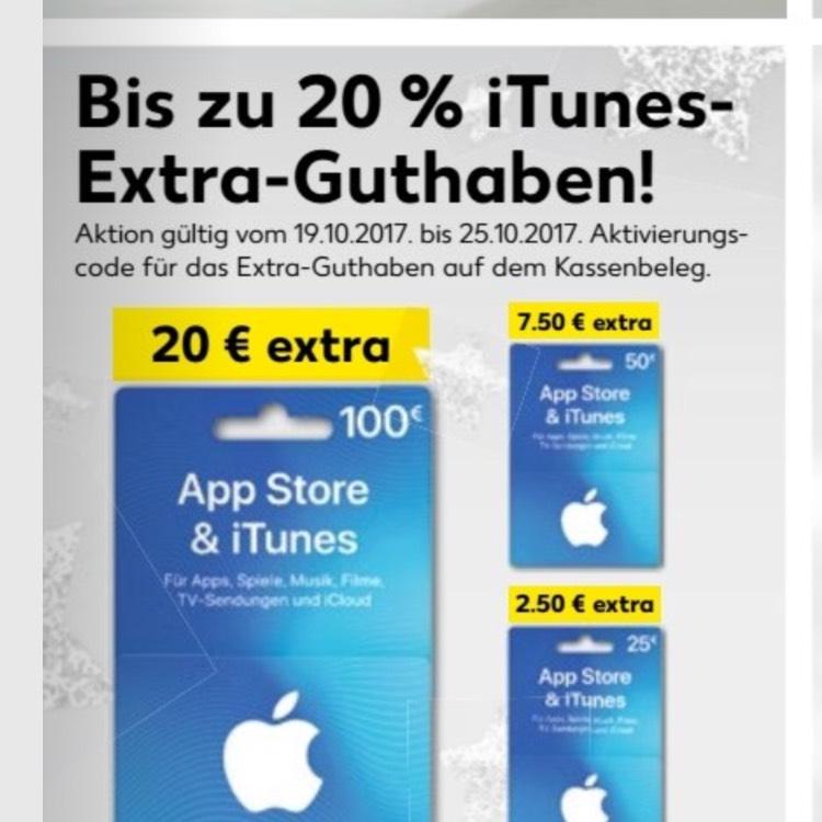 iTunes Karten kaufen und extra Guthaben sichern