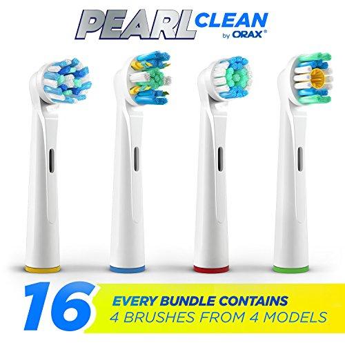 16x PEARL-Clean Bürstenkopf für Oral-B Zahnbürsten