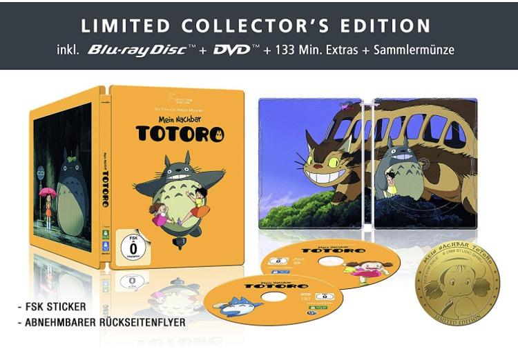 Ghibli Sammeldeal - u.a. Mein Nachbar Totoro - Steelbook (+ DVD) [Blu-ray] [Limited Collector's Edition] für 19,97€ [Amazon Prime]
