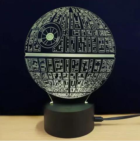 Star Wars Todesstern LED Tischleuchte mit Farbwechsel für 4,60€ inkl. Versand [Zaful]
