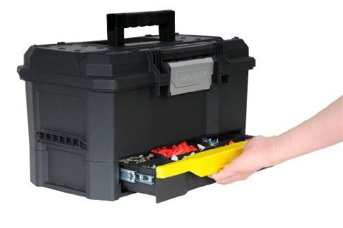 [amazon] STANLEY Werkzeugbox mit integrierter Schublade, Deckelaussparung, entnehmbare Trage, 48,1x27,9x28,7
