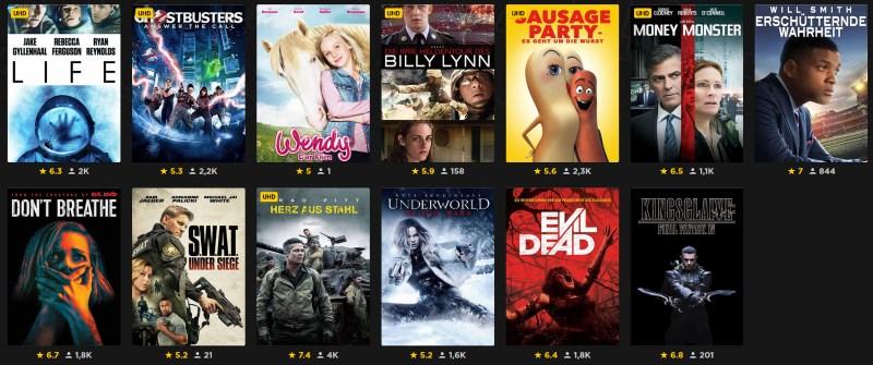 [Rakuten TV] 13 Filme als HD-Streams kaufen, je 1,99€ - neue Filmauswahl