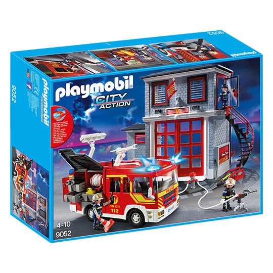 Playmobil 9052 City Action Feuerwehr Mega Set mit Pumpe [real]