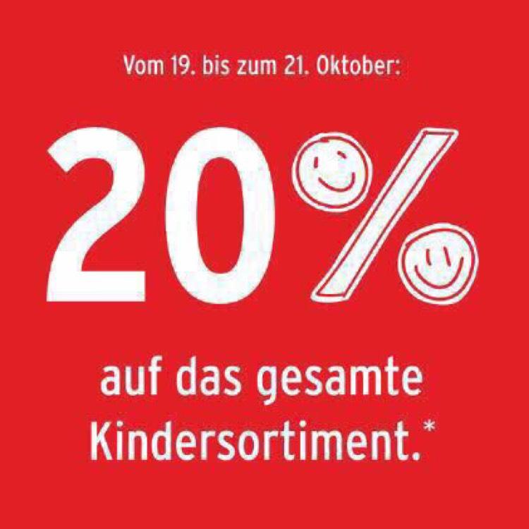 20% auf das gesamte Kindersortiment / Ernstings Family