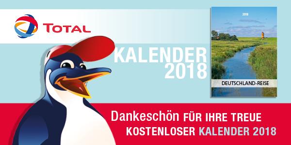 """Kostenloser TOTAL Kalender 2018 - """"Deutschland-Reise"""""""