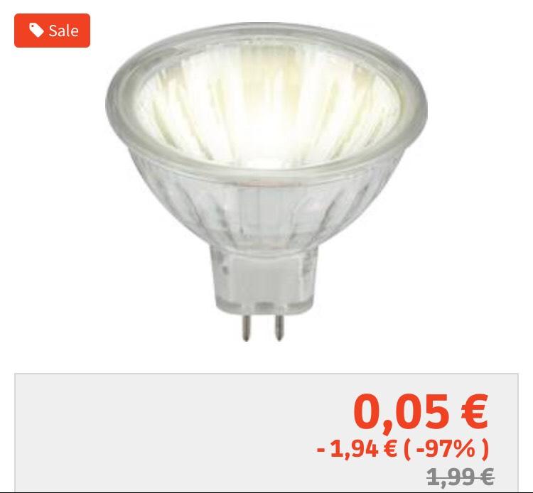 [voelkner] Lagerräumung: Super Preise für Leuchtmittel LED und Halogen z.B. 12V 35W Halogenspots