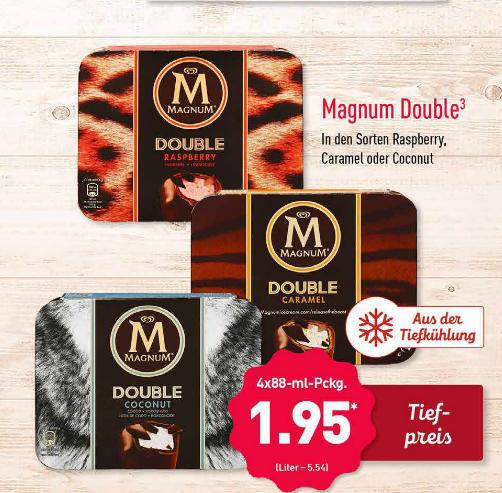 [Aldi Nord / Kaufland] Magnum Double bei Aldi Nord / alle anderen Sorten bei Kaufland für 1,95 Euro