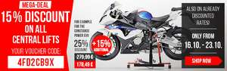 (Motea-Shop) 15% Rabatt auf alle Zentralständer