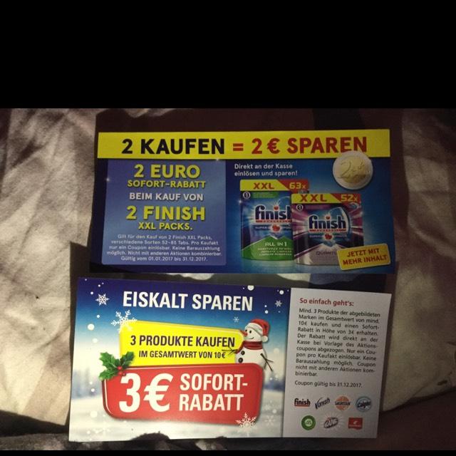 Doppelt Absahen bei Finish Tabs -3€ + -2€